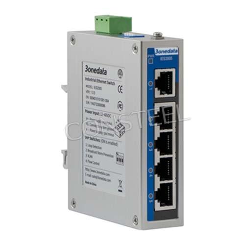 5-portowy switch przemysłowy na szynę DIN - IES2005-5T-P48