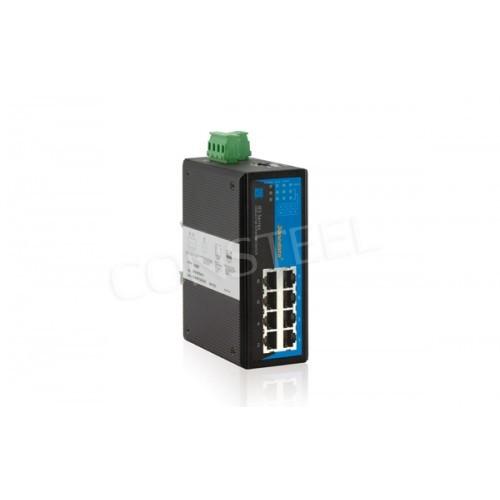 Przemysłowy switch 8-portowy na szynę DIN - IES318