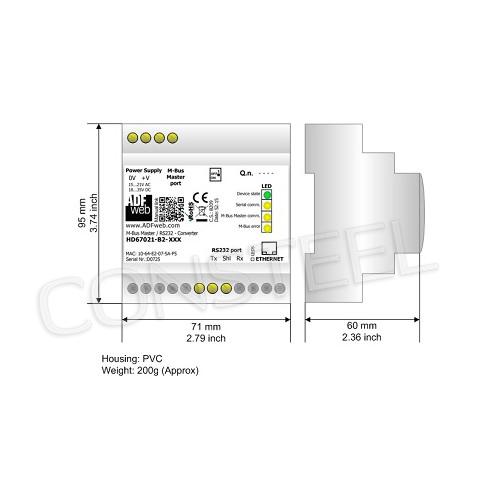 Przemysłowy konwerter MBus na RS232 - HD67021-B2-250