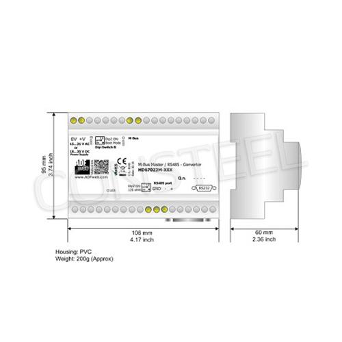 Przemysłowy konwerter MBus na RS485 - HD67022-B2-20
