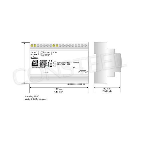 Przemysłowy repeater, izolator linii MBus - HD67032-B2-20