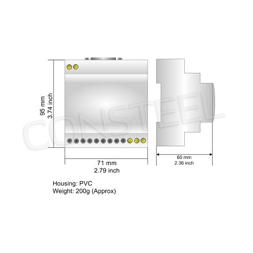 Przemysłowy konwerter MBus na BACnet Ethernet IP - HD67056-B2-80