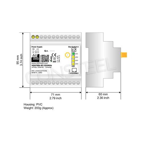 Przemysłowy konwerter M-Bus Wireless na Modbus TCP - HD67083-B2-169MHz-0