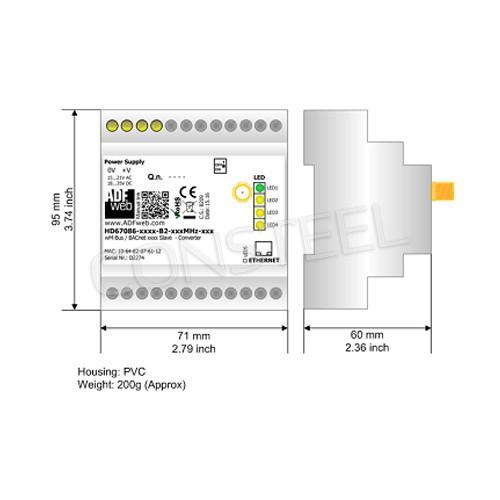 Przemysłowy konwerter MBus Wireless na BACnet IP - HD67086-IP-B2-169MHz-40