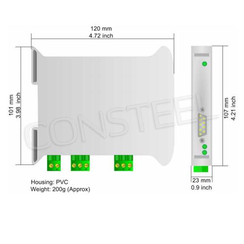Przemysłowy konwerter DeviceNet Slave na CAN - HD67235-A1