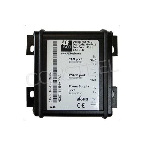 Przemysłowy konwerter J1939 na Modbus TCP - HD67433-E4V