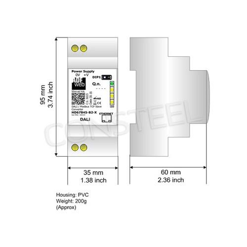 Przemysłowy konwerter DALI na Modbus RTU - HD67843-B2