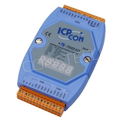 I-7522AD - Kontroler RS-232, RS-485 z wyświetlaczem LED