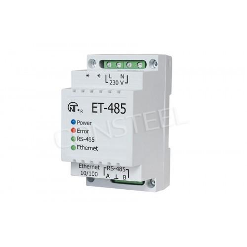 Modbus RTU, TCP, ASCII gateway - Ethernet to RS485 - ET-485